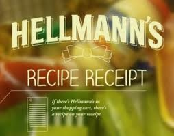Hellmanns recipe receipt. Cannes Winner. Innovative way to deliver recipe ideas to shoppers based on the groceries theyve purchased. Watch film here http://www.youtube.com/watch?v=4bxMUFAPRUk