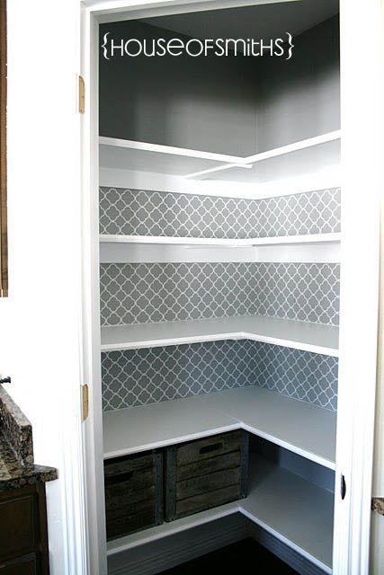 I love the paint and quatrefoil used in this pantry. (The House of Smiths - Home DIY Blog)                                                                                                                                                      More