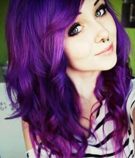 purple curled