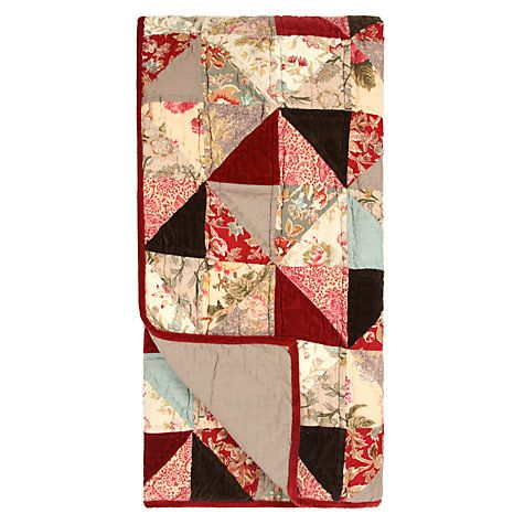 I bloody love this !!! Buy John Lewis Patchwork Bedspread, Ruby Online at johnlewis.com