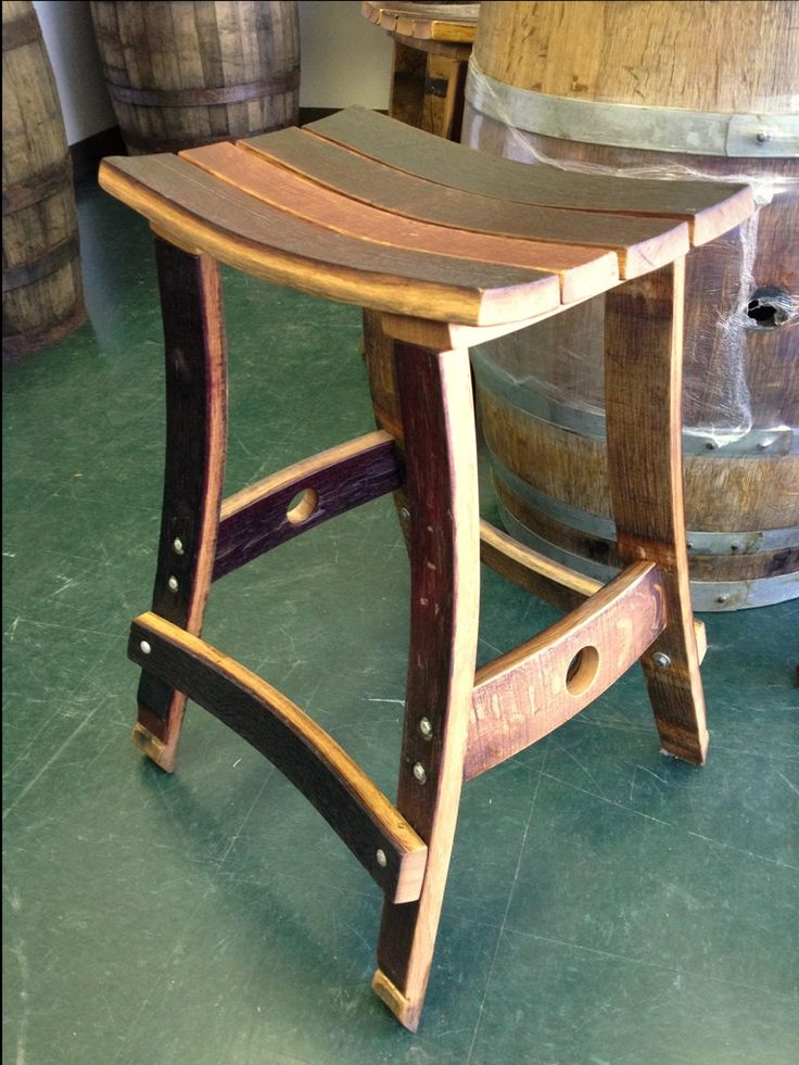 Whiskey barrel bar stool                                                                                                                                                                                 More
