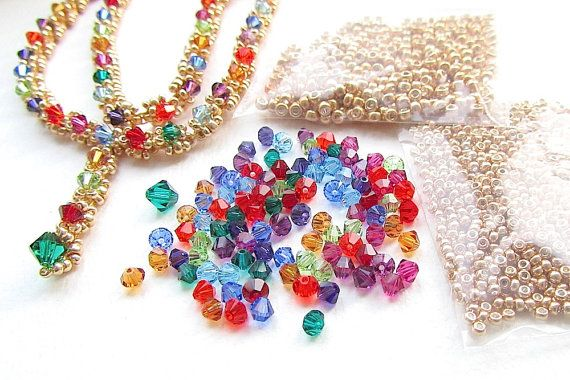 Jewellery Making Kit Necklace Kit Evangeline Jewel Crystal