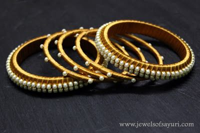 Make Silk Thread Jewellery bangles
