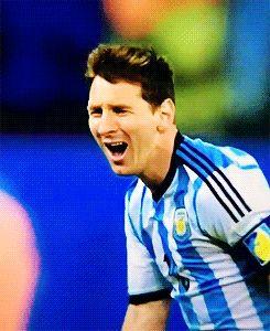 Messi at semifinals FIFA World Cup 2014