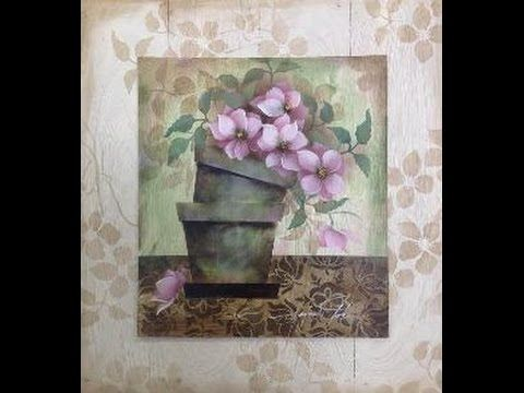 Stencil OPA - 25/01/16 - Mayumi Takushi - Vasos com Flores do Campo - YouTube