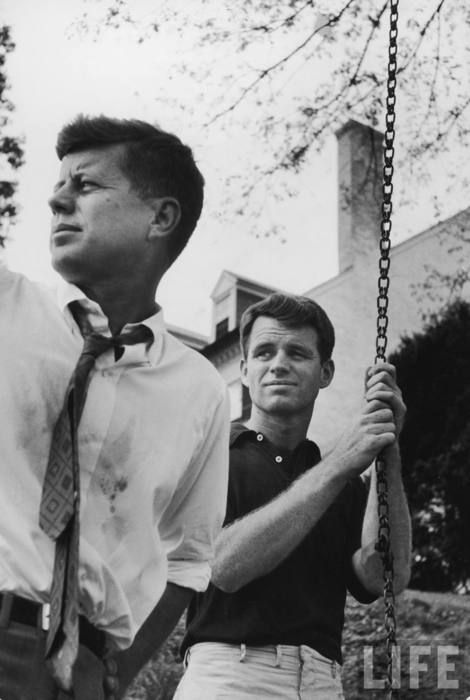 The Kennedy brothers... JFK and RFK...
