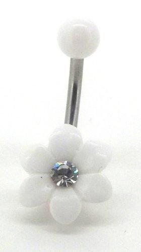 Amazon.com: Body Accentz® Belly Button Ring Navel Flower BV110 Body Jewelry 14 Gauge: Jewelry