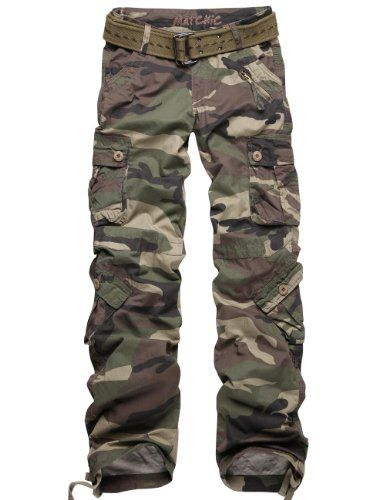Pair with a black tank...my husband would flip :) lol Match Juniors Camouflage Cargo Pants 3 Colors Available Petite Slim Fit Military Style Pants #2036M $26.95