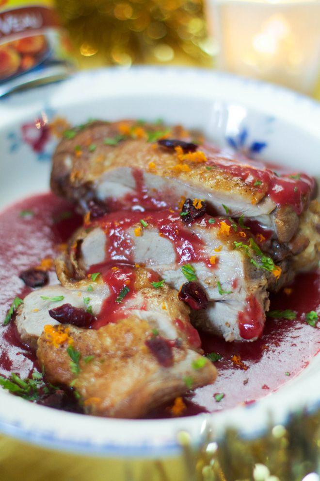 Cuisse de dinde rôtie aux épices et sa sauce airelles/clémentines {Repas de Noël}