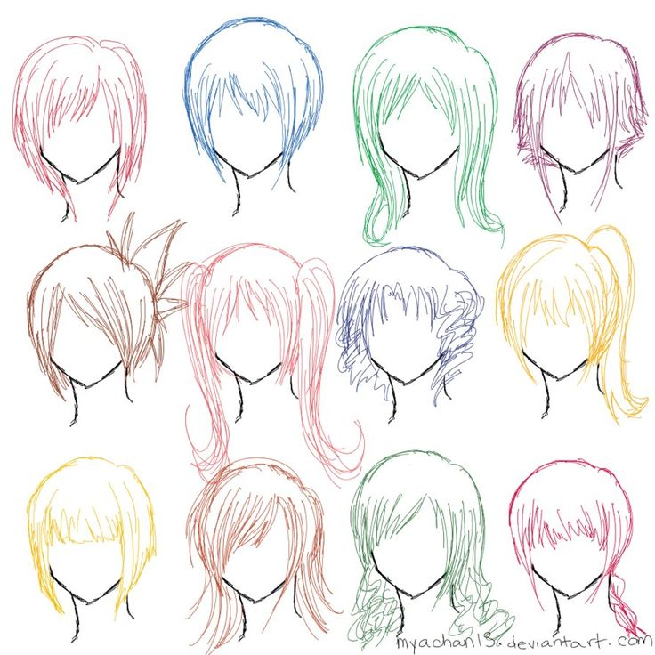 154 Best How To Draw Hair Images On Pinterest