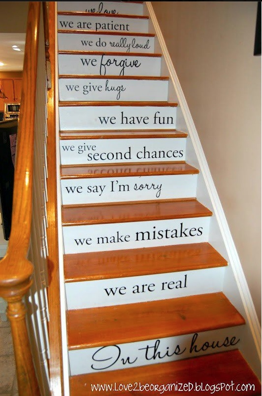 Love this! I will do this in the new house. Our family vision statement... Words to live by, what a great reminder!