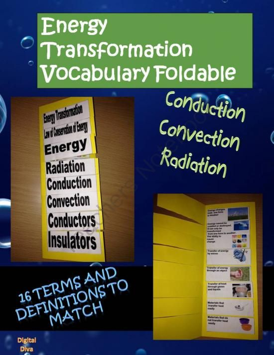 Interactive Science Notebook Energy Transformation Vocabulary Foldable from Digital Diva on TeachersNotebook.com -  (3 pages)  - Interactive Science Notebook Energy Transformation Vocabulary Foldable -2 foldables on energy and heat transformation
