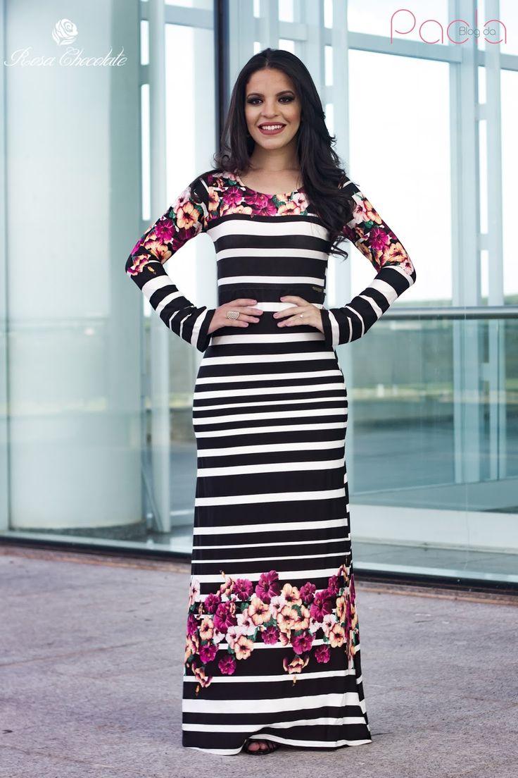 Blog da Paola: Look do Dia: Vestido Longo By Rosa Chocolate