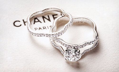 Wedding Rings by Chanel $8,750 | http://www.thefancy.com/things/294353289/Profil-de-Camelia-Wedding-Rings-by-Chanel