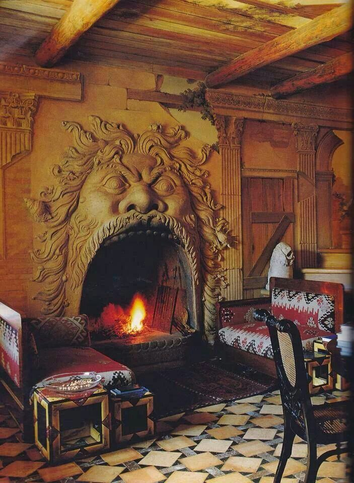 Faerie Magazine - cool fireplace