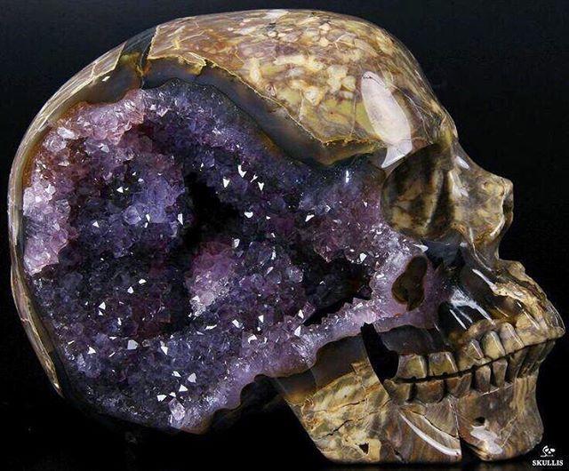 Amethyst carved crystal skull