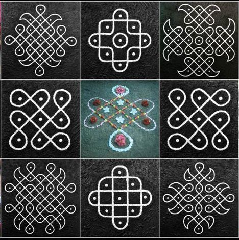 Star kolam tattoo - Google Search