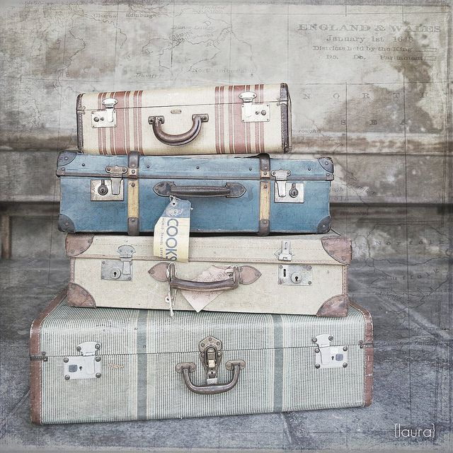 .To create shabby chic in your home add old suitcases. They make great storage and also add character to a room....x