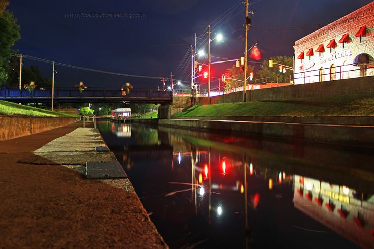 Lock 32 of the Trent-Severn Waterway at Bobcaygeon, Ontario. 30 second long exposure image.