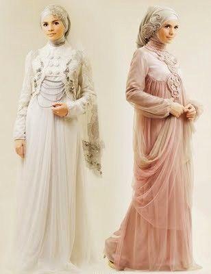 Hijab wedding dress.
