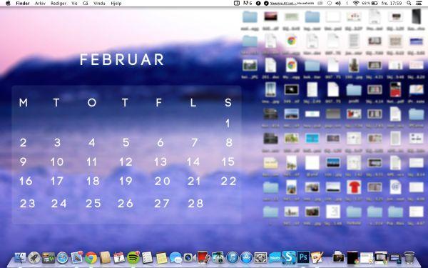February desktop calendar background - http://moldvarp.wordpress.com/