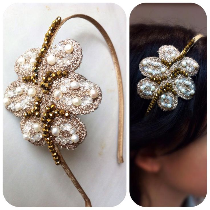 HEADPIECES | Chryssomally || Art & Fashion Designer - Wedding lace, pearls and crystals headband