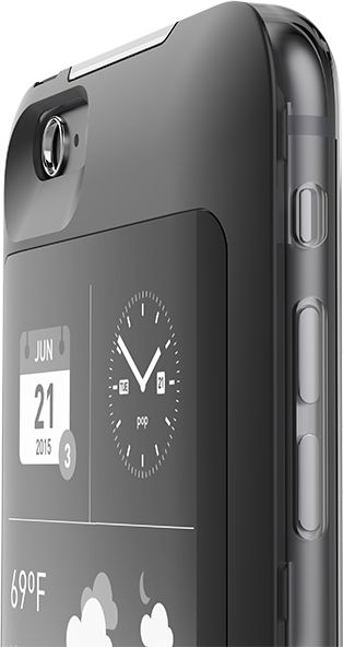 popSLATE 2 case in black | Put the back of your iPhone to work