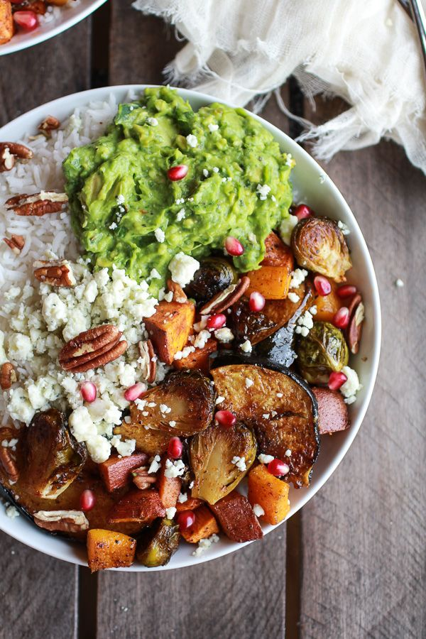 Roasted Harvest Veggie, Curried Avocado   Coconut Rice Bowls