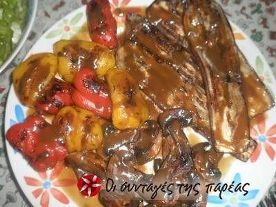 Λαχανικά σχάρας με μπαλσάμικο & σκορδόλαδο
