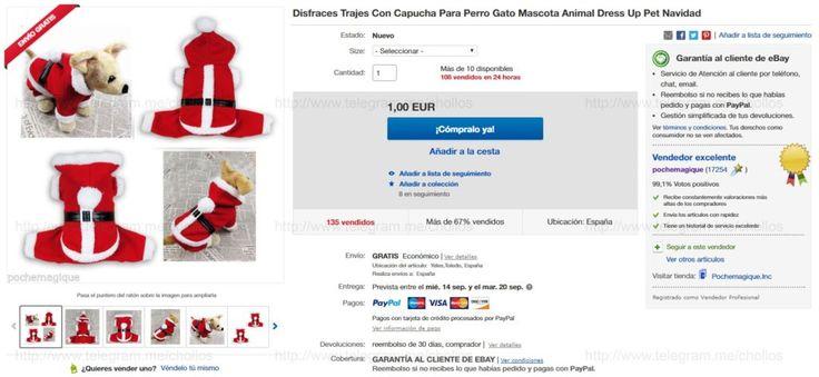 Traje de Papa Noel para perros desde 1 - http://ift.tt/2cDjEgJ