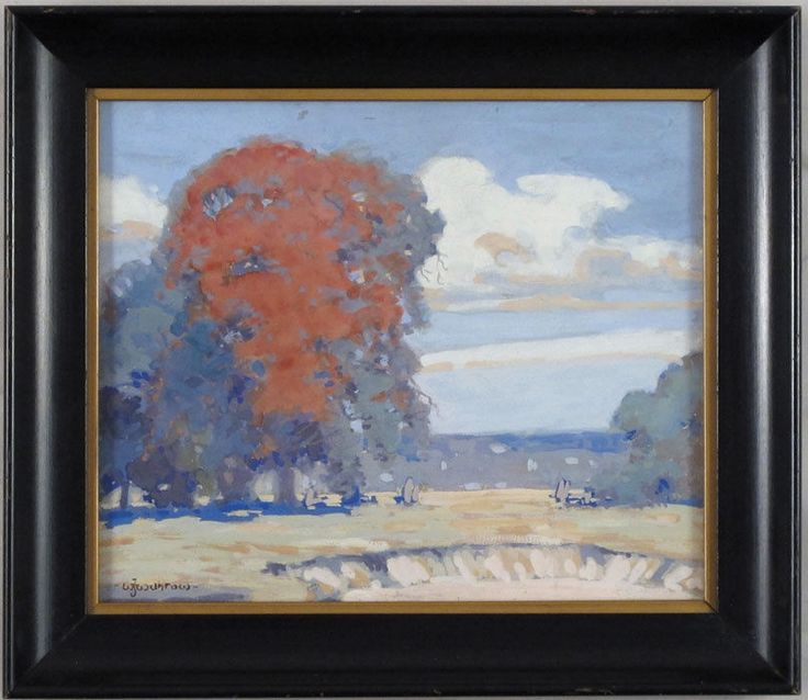 William J Withrow (b.1926) Canadian Listed Vintage Gouache Landscape Haliburton