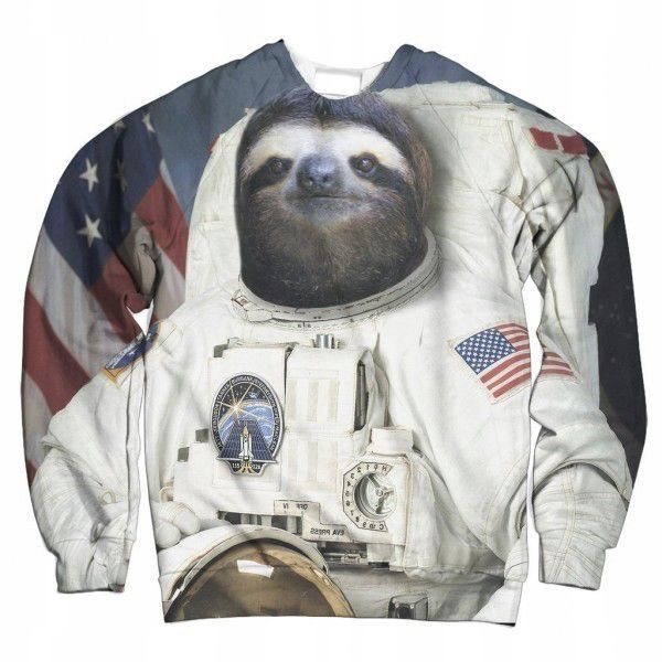 Leniwiec Kosmonauta Bluza Fullprint 3d Kl 7639213691 Oficjalne Archiwum Allegro Sloth Astronaut Sloth Sweatshirts