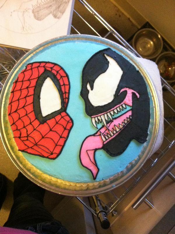 Marvel Venom Cake Google Search Paul Pinterest