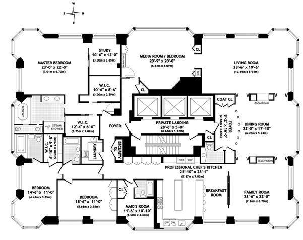 Best Penthouse Images On Pinterest Apartment Floor Plans