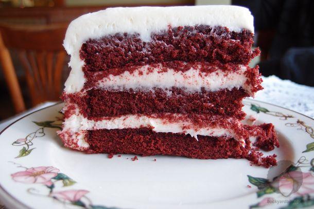 Red Velvet Cake from Sweet Lady Jane Bakery. West Hollywood, CA. Photo by Backyarbite.com
