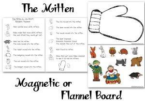 » The Mitten Flannel Board – Felt Board – Magnetic Board – Pattern Nuttin' But Preschool