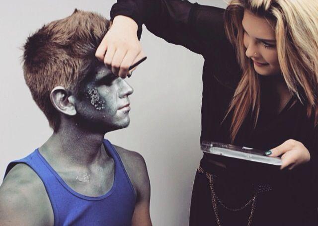 Creative Makeup Photo-shoot: Jack Frost.  By Rachel Lavigne