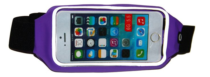 """Running Belt for the iPhone 6 Plus / iPhone 6S Plus (5.5), Galaxy S7 Edge, LG G5 & More (Purple). COMPATIBILITY: Fits all of the iPhone and Samsung model phones up to 3.5"""" x 6.5"""" including iPhone 7, 6 6S Plus, Samsung Galaxy S Series, LG G5 and many others. PROTECTION: Soft mesh material protects and keeps your phone safe from sweat and moisture. EASY TO USE: Includes handy reflective zipper pouch and headphone access port. STORAGE: Includes storage pouches for your smartphone, id, cards..."""