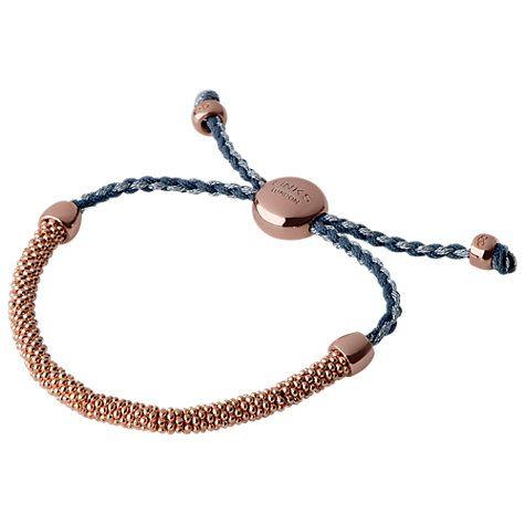 Buy Links of London Effervescence XS Cord Bracelet, Blue / Rose Gold Online at johnlewis.com