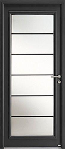 Modèle Léry Mixte Porte d'entrée mixte alu / bois classique grand vitrage Une isolation phonique exceptionnelle pour cette porte d'entrée entièrement vitrée.