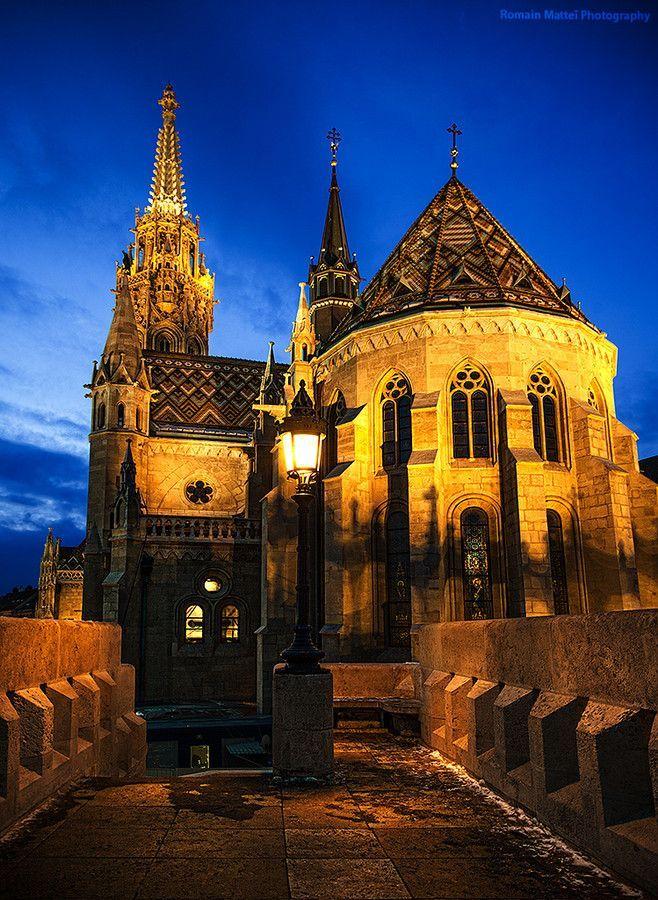 500px / Budapest Blue Hour by Romain Matteï Photography - St. Mathew's Church