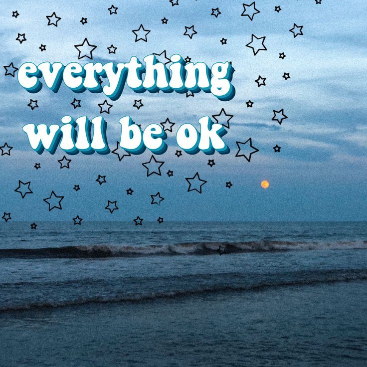 Everything Will Be Ok Quote Beautiful Sky Sunset Art