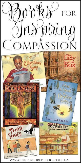 A list and links to books for inspiring compassion for those less fortunate. These books are perfect springboards for discussions on compassion and empathy with your students.