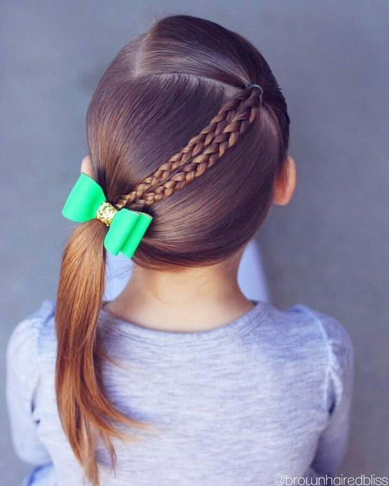 Simple and beautiful hairstyles for school for every day  #beautiful #every #hai…