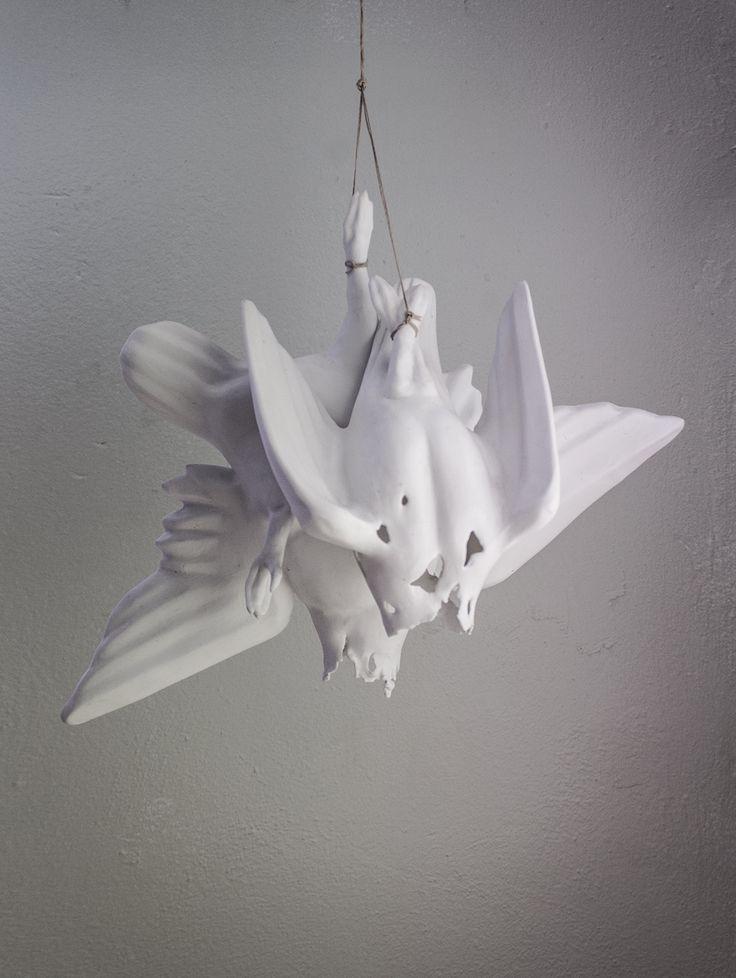 Hanging porcelain birds, Matias Liimatainen