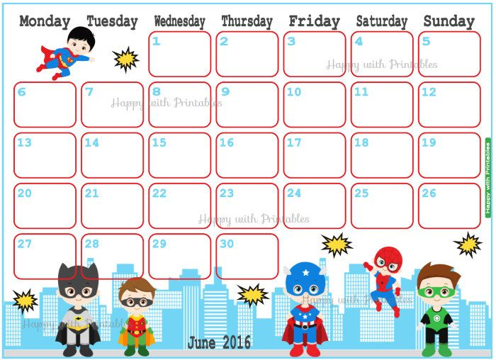June Calendar Picture Ideas : Best images about happy with printables on pinterest