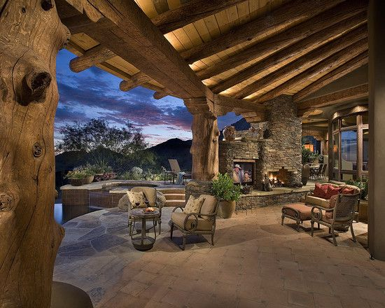 Outdoor living rustic porch
