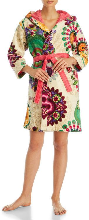 Desigual Blossom French Terry Robe