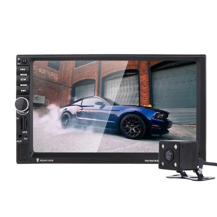 7 inch 2Din HD Автомобильный Радио MP5 Плеер С Цифровой Сенсорный Экран, Bluetooth Громкой Связи USB/TF/FM DVR/Вход Aux Поддержка Зарядки в Автомобиле GPS купить на AliExpress
