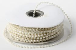 Ivory 5mm Pearls on Reel x 10m